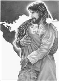 jesus hugging girl