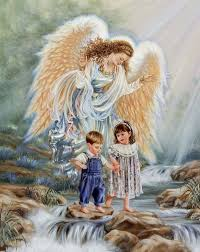 Why is it that Guardian Angels are always guiding small children...could it be because God still sees us as his snuggle-bugs?